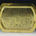 Vintage Recipe Tray, ca. 1930, brass