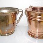 Bauhaus Sektkühler, Silber, 1930, Champagner Kühler, Kupfer, Handarbeit, ca. 1910, champagne bucket, Bauhaus, silver plate, Art Deco