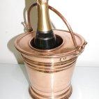 Sektkühler, Champagner Kühler, Kupfer, Handarbeit, ca. 1910, champagne bucket
