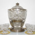 WMF, Bowle, Kristallglas, Jugendstil, ca. 1900 bis 1920