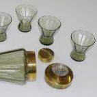 Cocktail Shaker Set, Rauchglas, ca. 1970