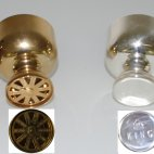 Napier Company - recipe cocktail shaker - vintage cocktail shaker ca. 1920 - gold plated, Napier Cocktail Shaker, King, silver plated, 1920, rare cocktail shaker