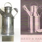"""The """" Milk Can"""" Cocktailshaker. Designed in ca. 1938 and manufactured by Reed & Barton/Cartier."""